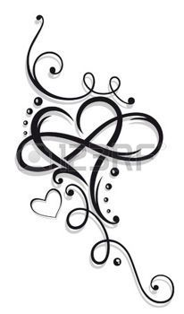 206x350 Tattoo hart%3a heart and infinity%2c tattoo for valentines day
