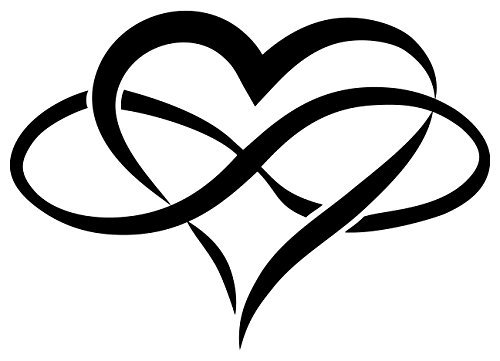500x361 8 Infinity Heart Heavy Duty Oracal Vinyl Decal Stickers