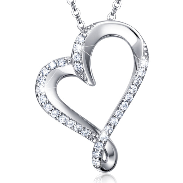 640x640 925 Sterling Silver Infinity Heart Necklace Christmas Gift