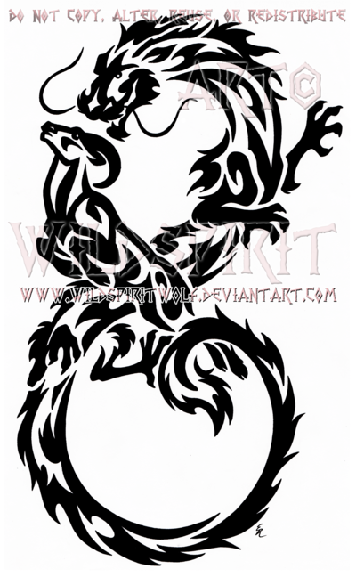 400x648 Infinity Dragon And Ram Tribal Design By Wildspiritwolf