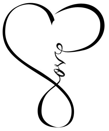 377x455 Infinity Heart Tattoo Men Drawing Pictures To Pin