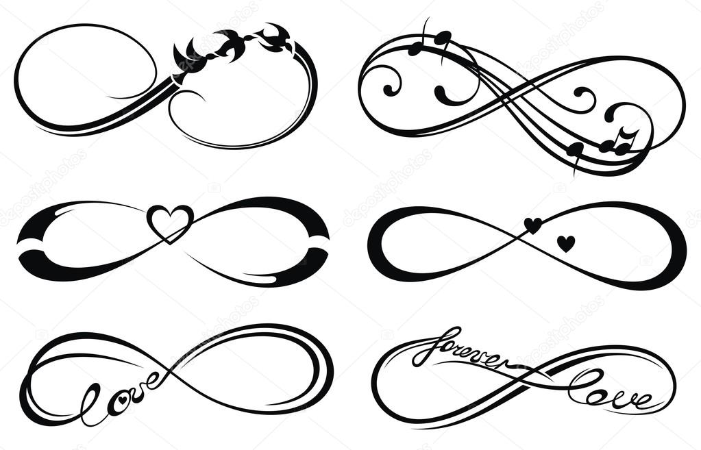 1023x657 Infinity Love, Forever Symbol Stock Vector Ksyshakiss
