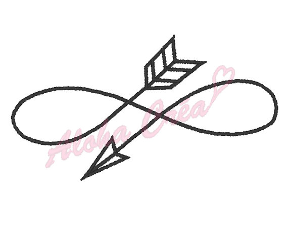 570x458 Machine Embroidery Design Arrow Infinity Sign 5 Sizes