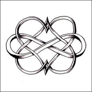 300x300 Double Heart Infinity Temporary Tattoo Beauty