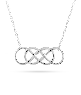 340x398 Silver Double Infinity Symbol Necklace