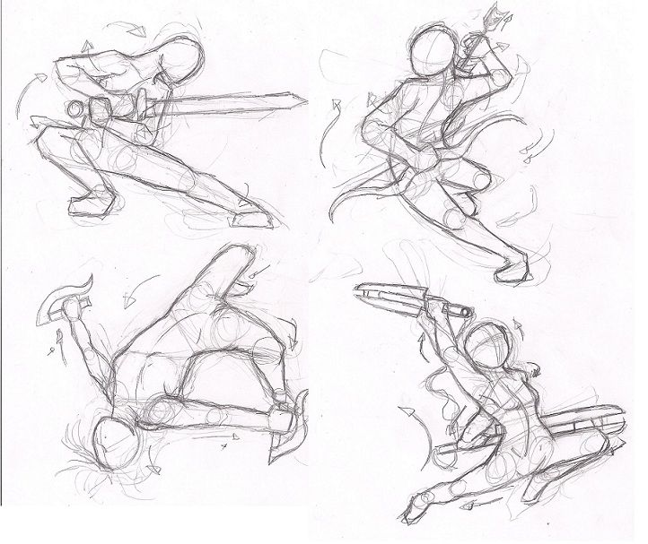722x607 Sword Fighting Poses