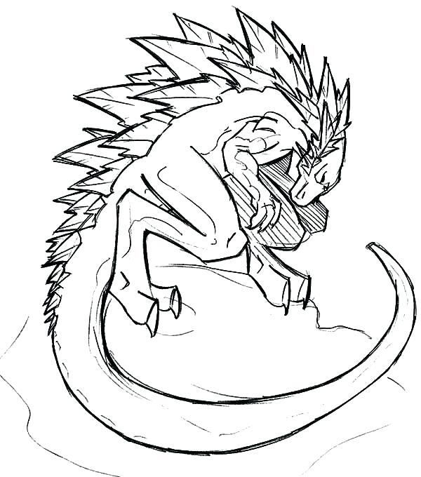 600x680 Here Are Godzilla Coloring Pages Pictures