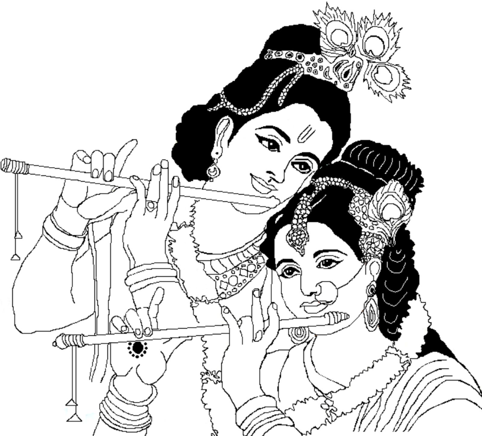1600x1448 Photos Draw Krishna And Ratha,