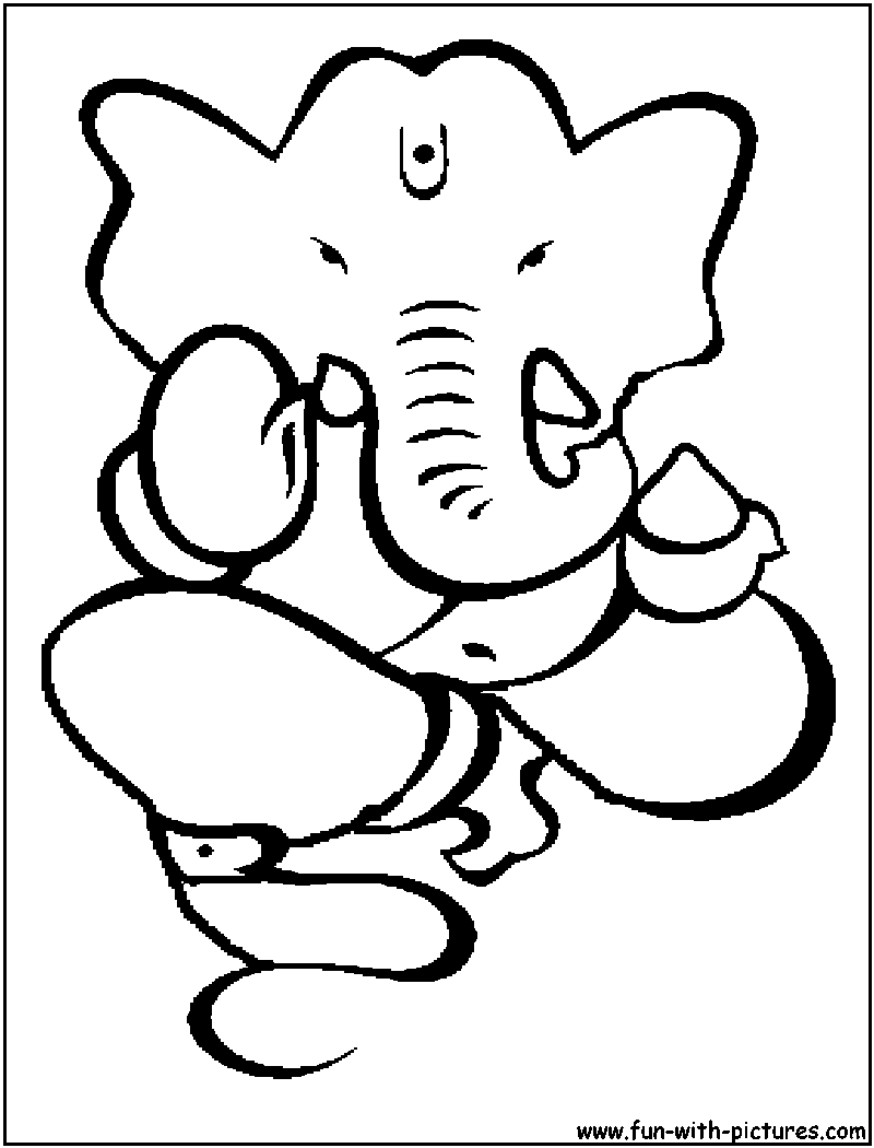 800x1050 Bal Ganesha Sketch Simple Ganesh Drawing Simple Image Information