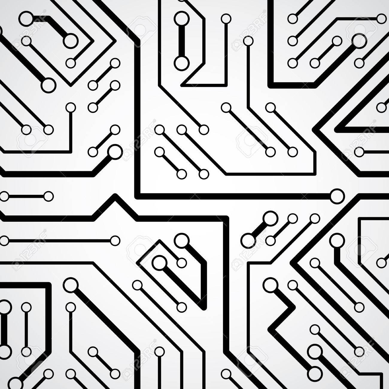 1300x1300 Circuit Board Futuristic Cybernetic Texture, Information