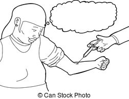 252x194 Outline Of Vaccine Injection Vector Clipart Illustrations. 42