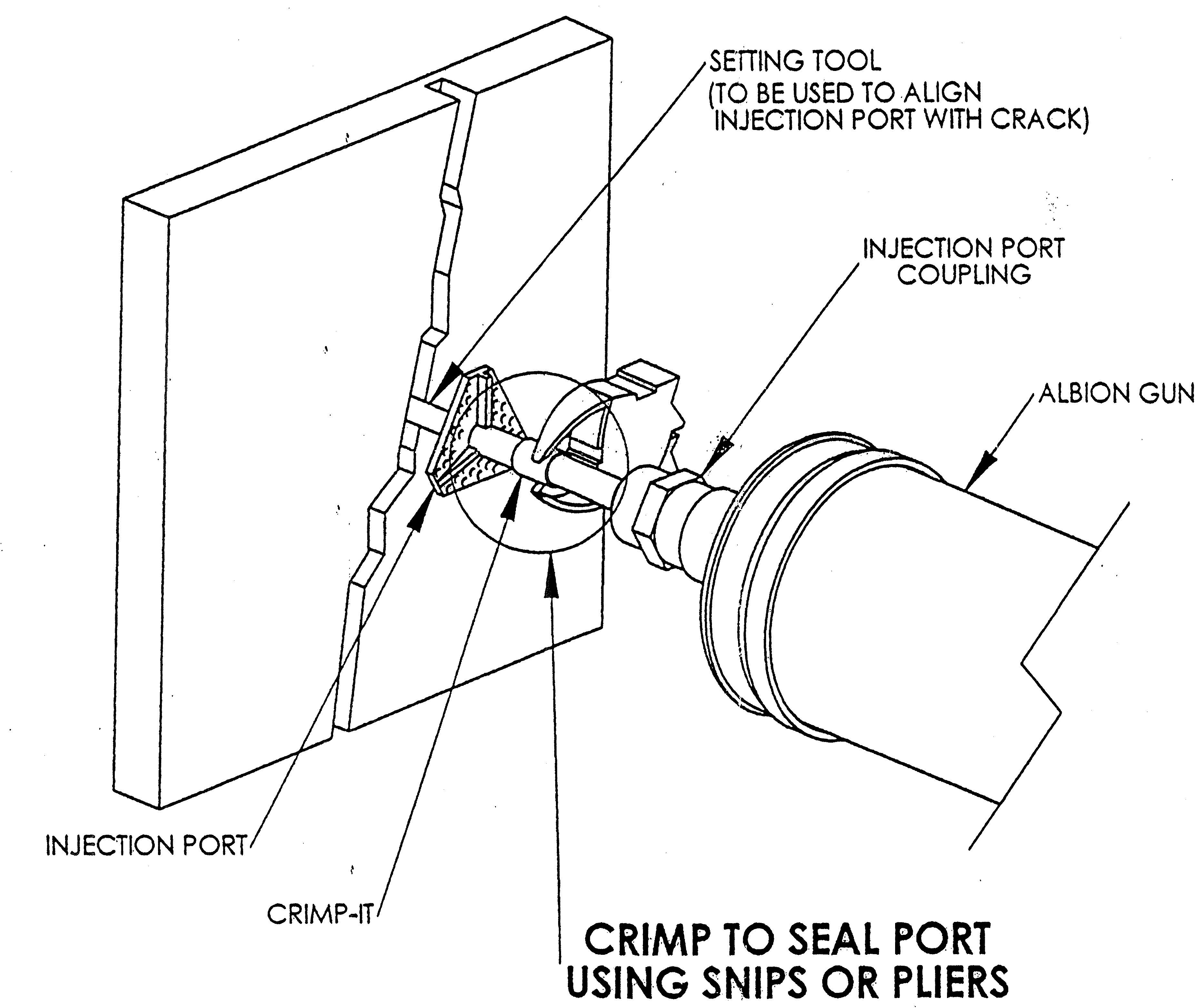 3734x3126 Surface Mount Plastic Injection Port With Crimp It