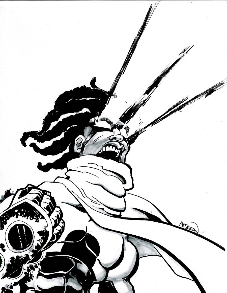 900x1159 The Art Of Samax Amen Character Art Epic From Dark City Comics