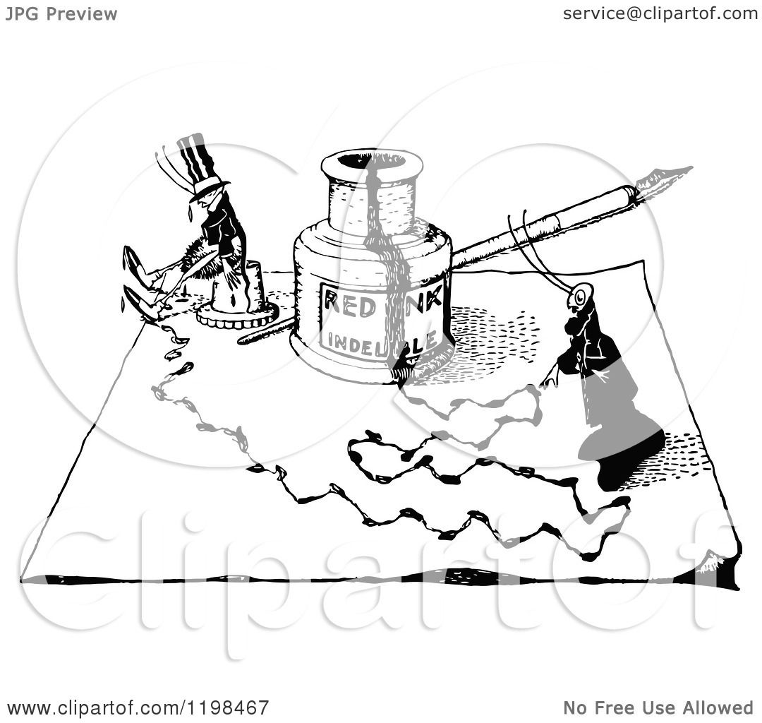 1080x1024 Clipart Of A Black And White Vintage Bottle Of Ink And Ants
