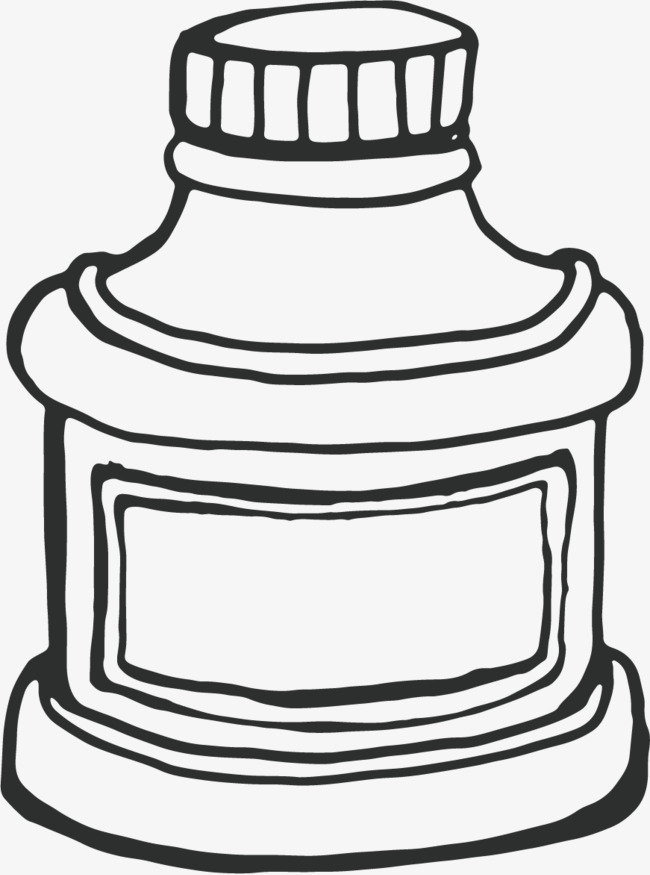 650x875 Simple Ink Bottle, Simple Pen, Black, Line Png Image For Free Download