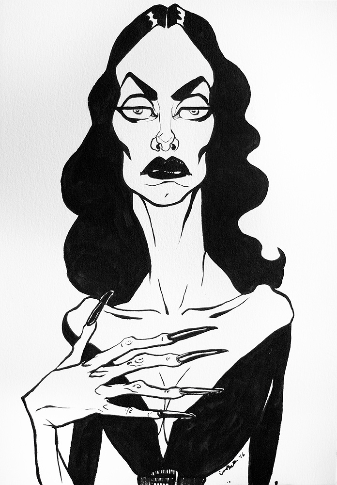 696x1000 Vampira Original Ink Drawing Asunder Online Store Powered By