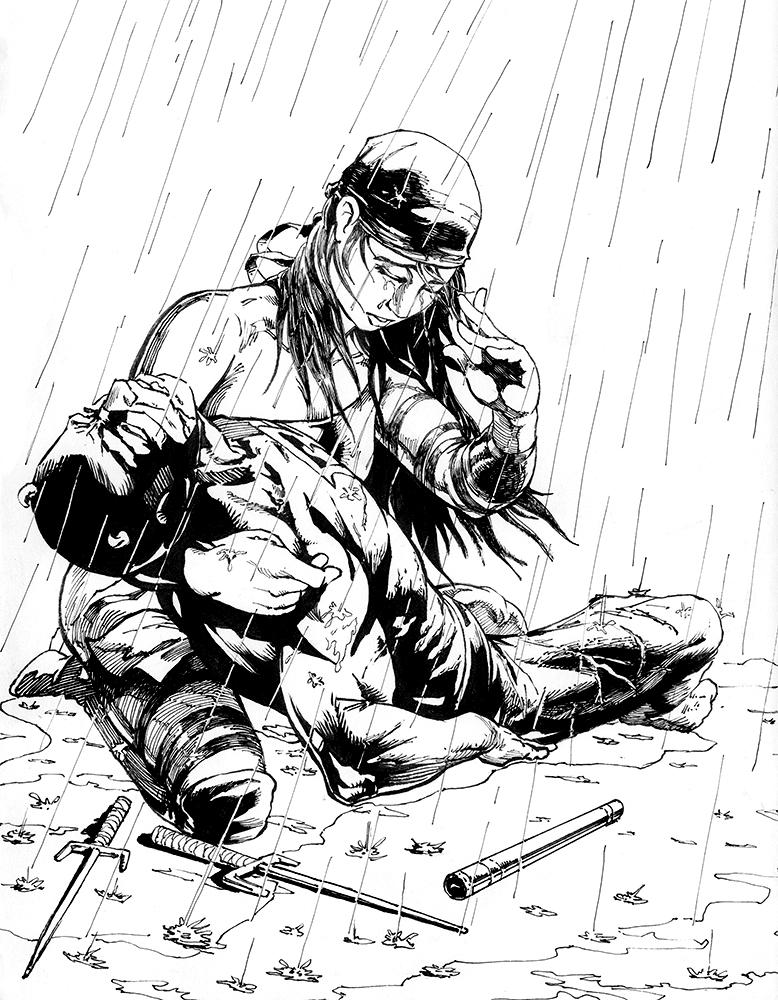 778x1000 Daredevil Amp Elektra Illustration How Tutorial From Drawing