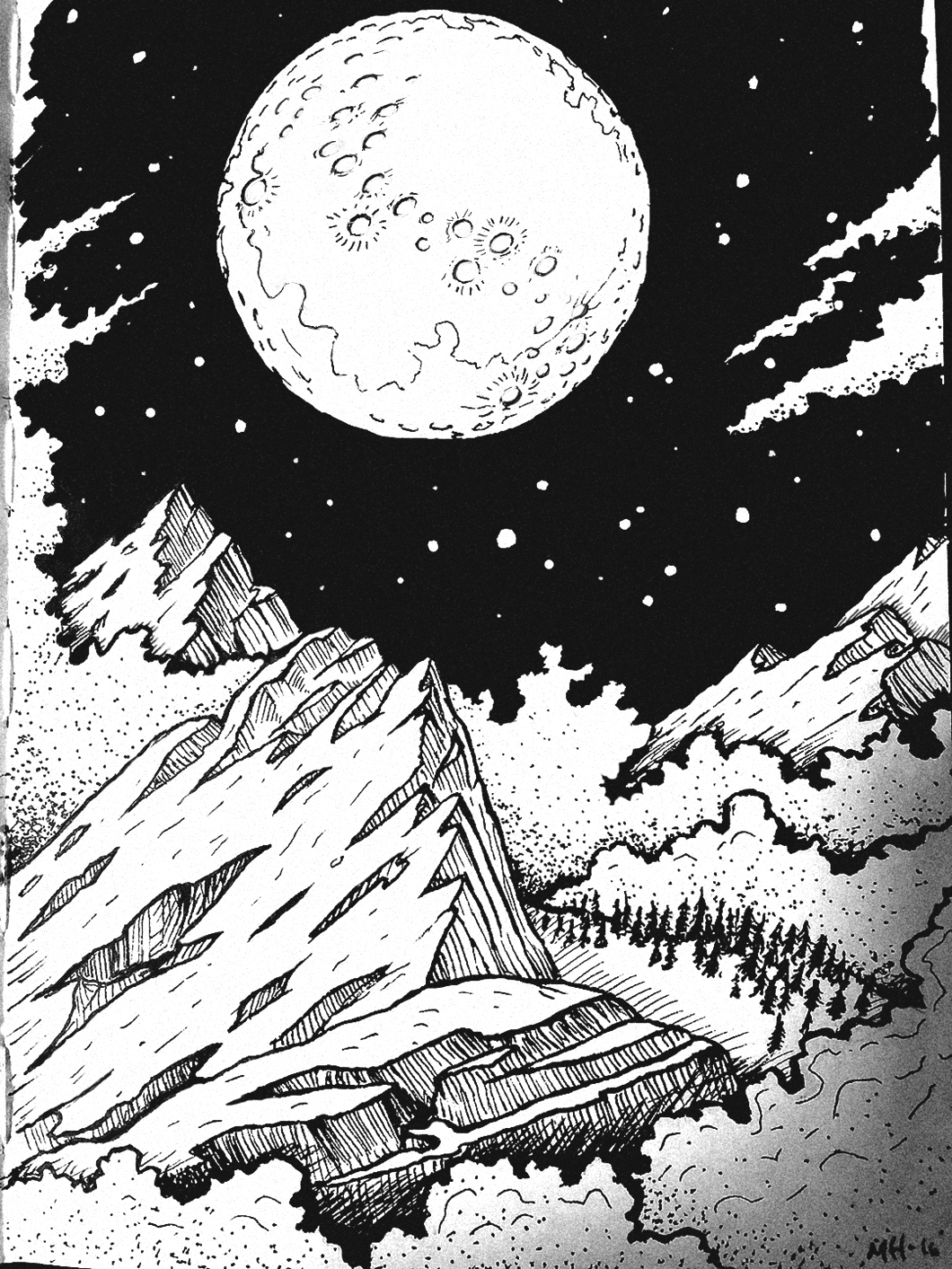 1060x1413 Moon Over Misty Mountains