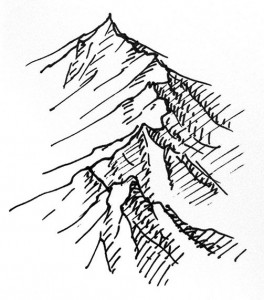 264x300 Quick Mountain Tutorial Tutorials, Drawings And Sketches