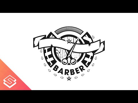 480x360 Barber Logo Design Time Lapse In Inkscape