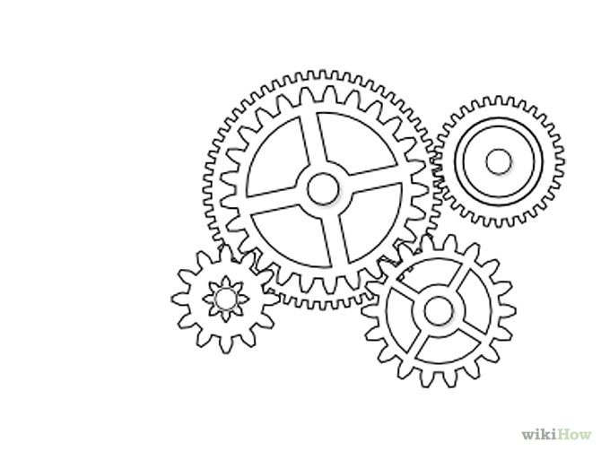 670x503 Draw Gears In Inkscape Mechanical Gears, Outlines And Craft