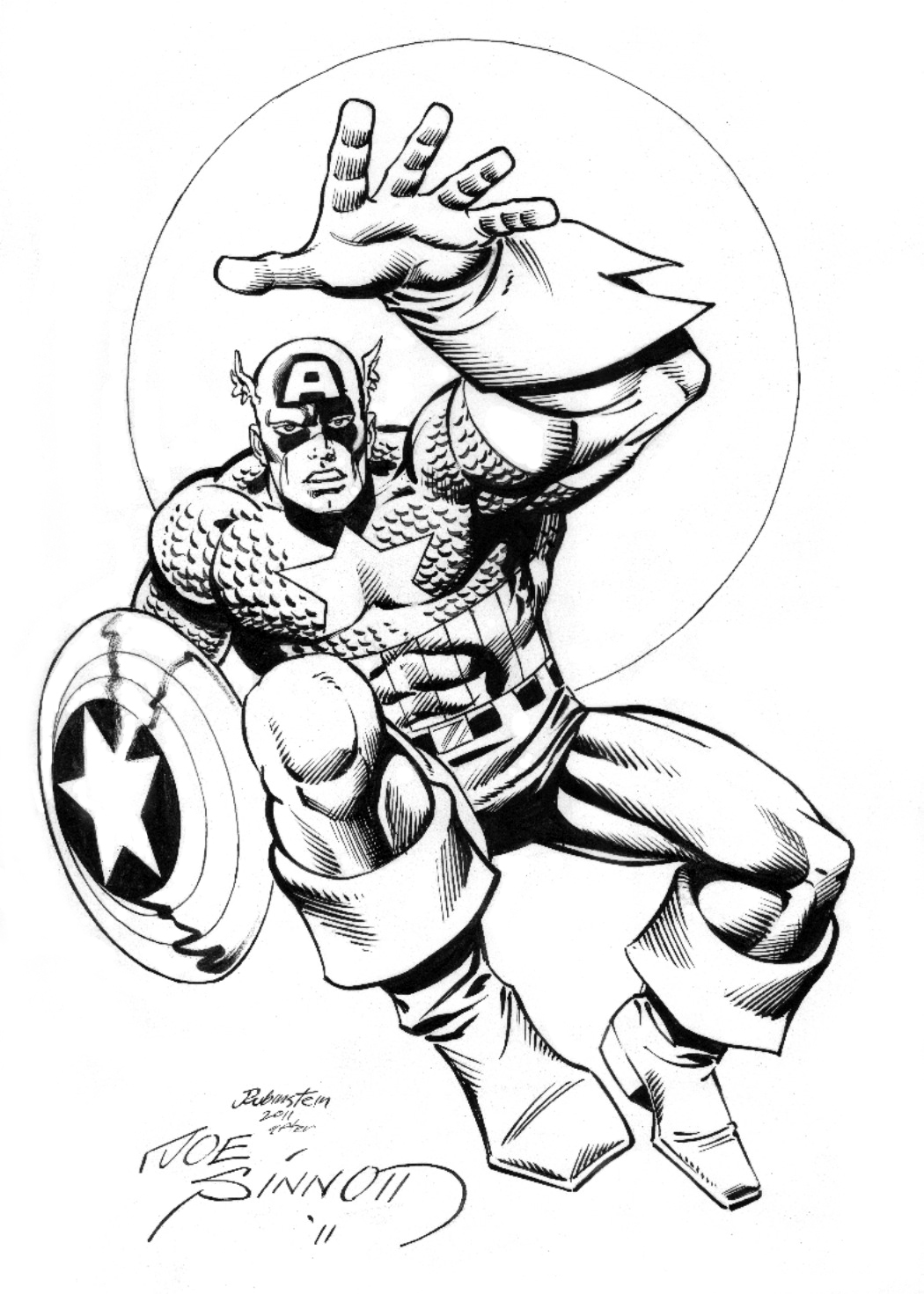 1050x1471 Inkwell Awards The Joe Sinnott Inking Challenge Continues!
