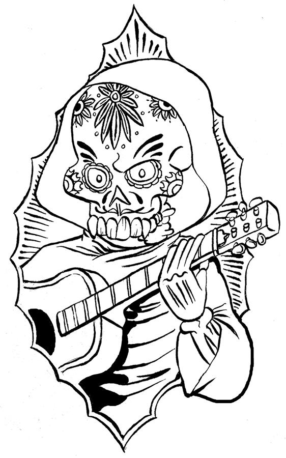 562x900 Magic Inkwell Tattoo Design