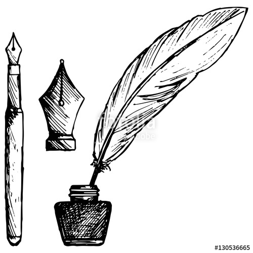 500x500 Ancient Pen, Inkwell And Old Ink Pen Stock Image And Royalty Free