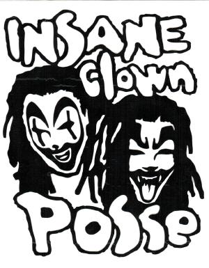300x385 Insane Clown Posse Band Logo Rub On Sticker Black Within Tab