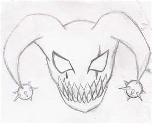 300x246 My Insane Drawing Of A Evil Jester Clown By Macz24daddy