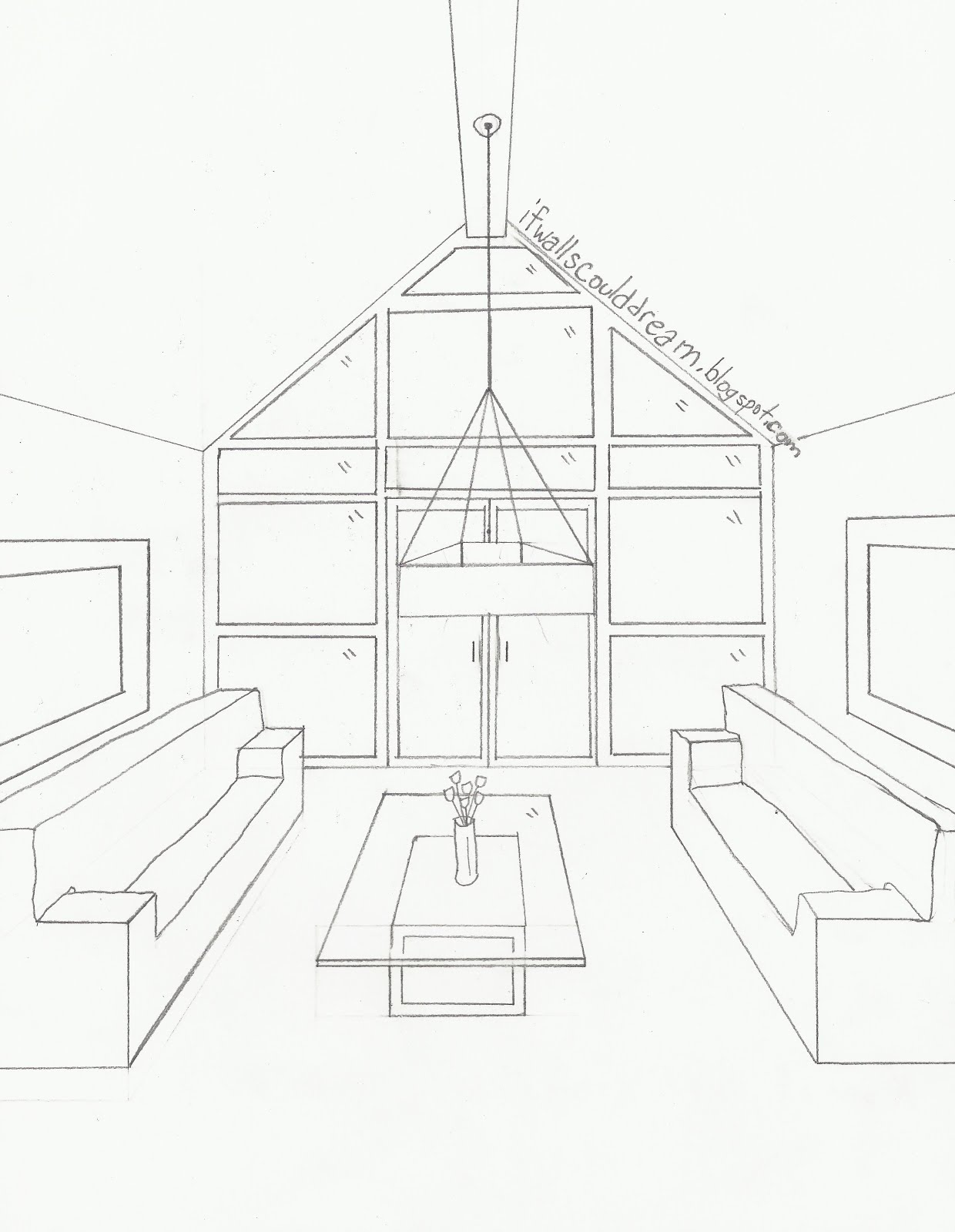 Inside House Drawing at GetDrawings.com | Free for personal use ...