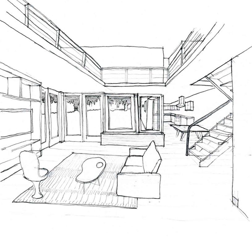 816x768 Home Interior Design Drawing Photo
