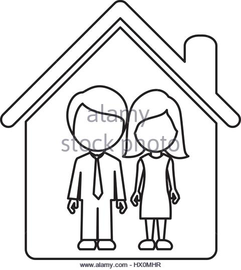 481x540 Cartoon House Black And White Stock Photos Amp Images