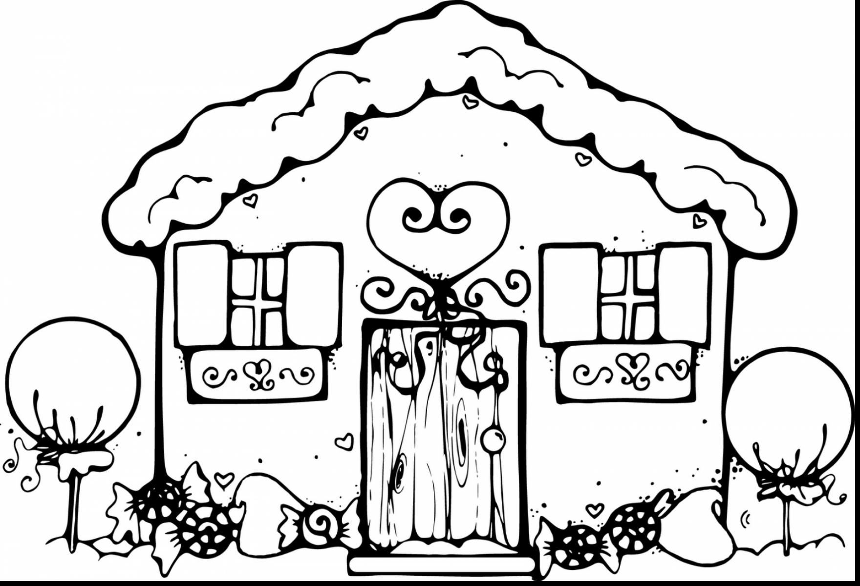 1760x1200 Marvelous Inside House Coloring Pages For Kids With Home Coloring