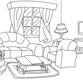 268x268 Coloring Pages House Rooms Kids Drawing And Coloring Pages