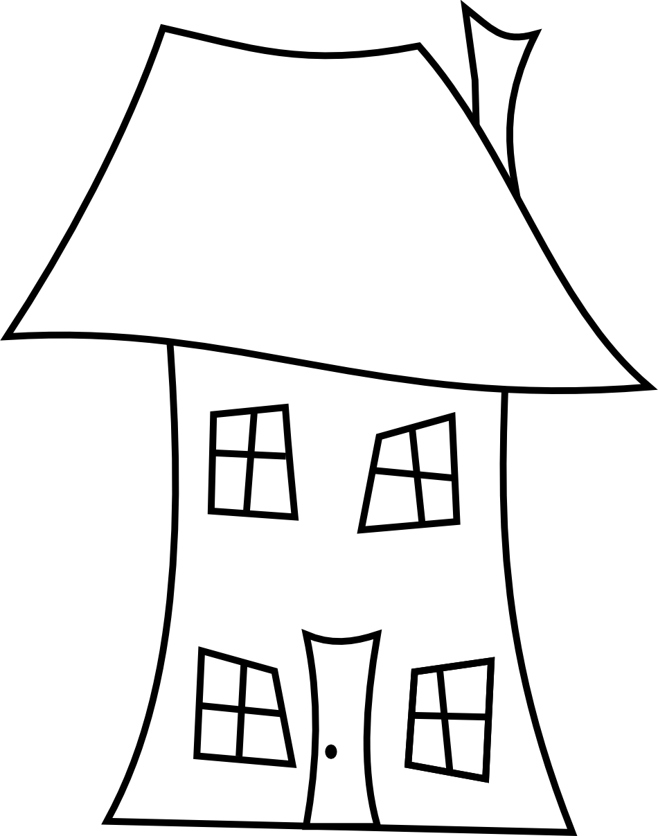 950x1207 Drawing Clipart House