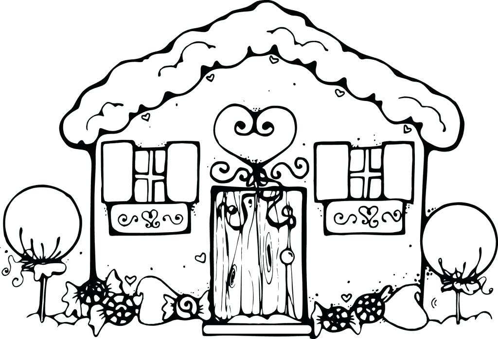 1024x698 Gingerbread House Coloring Sheets Printables Gingerbread Coloring