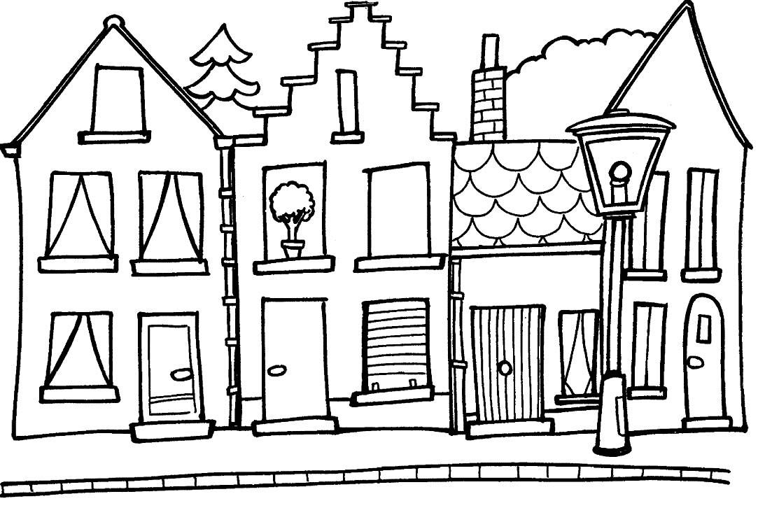 1093x726 House Outline Coloring Sheet Open House Coloring Sheet