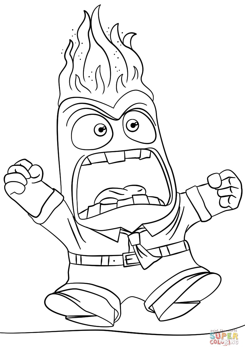 824x1186 Coloring Pages Inside Out Best Of Inside Out Anger Coloring Page