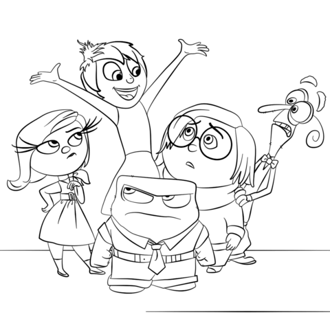 480x480 Inside Out All Characters Coloring Page Free Printable Coloring