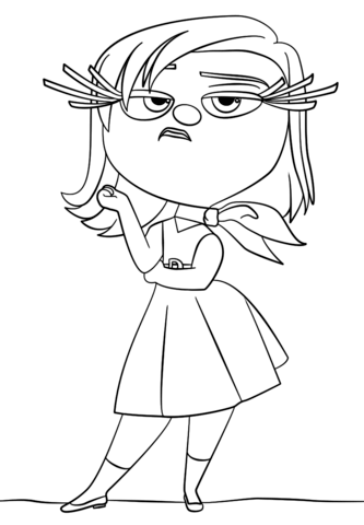 333x480 Inside Out Disgust Coloring Page Free Printable Pages