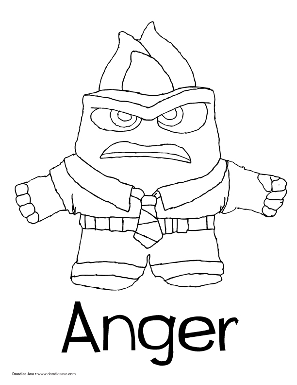 612x792 Anger Coloring Pages Inside Out Inside Out Characters Coloring