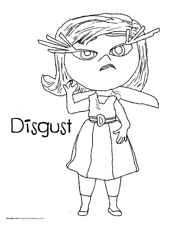 612x792 Inside Out Coloring Pages Disgust Anger