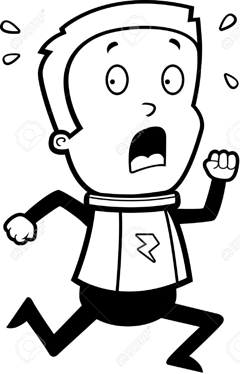 836x1300 Fear Clipart Black And White