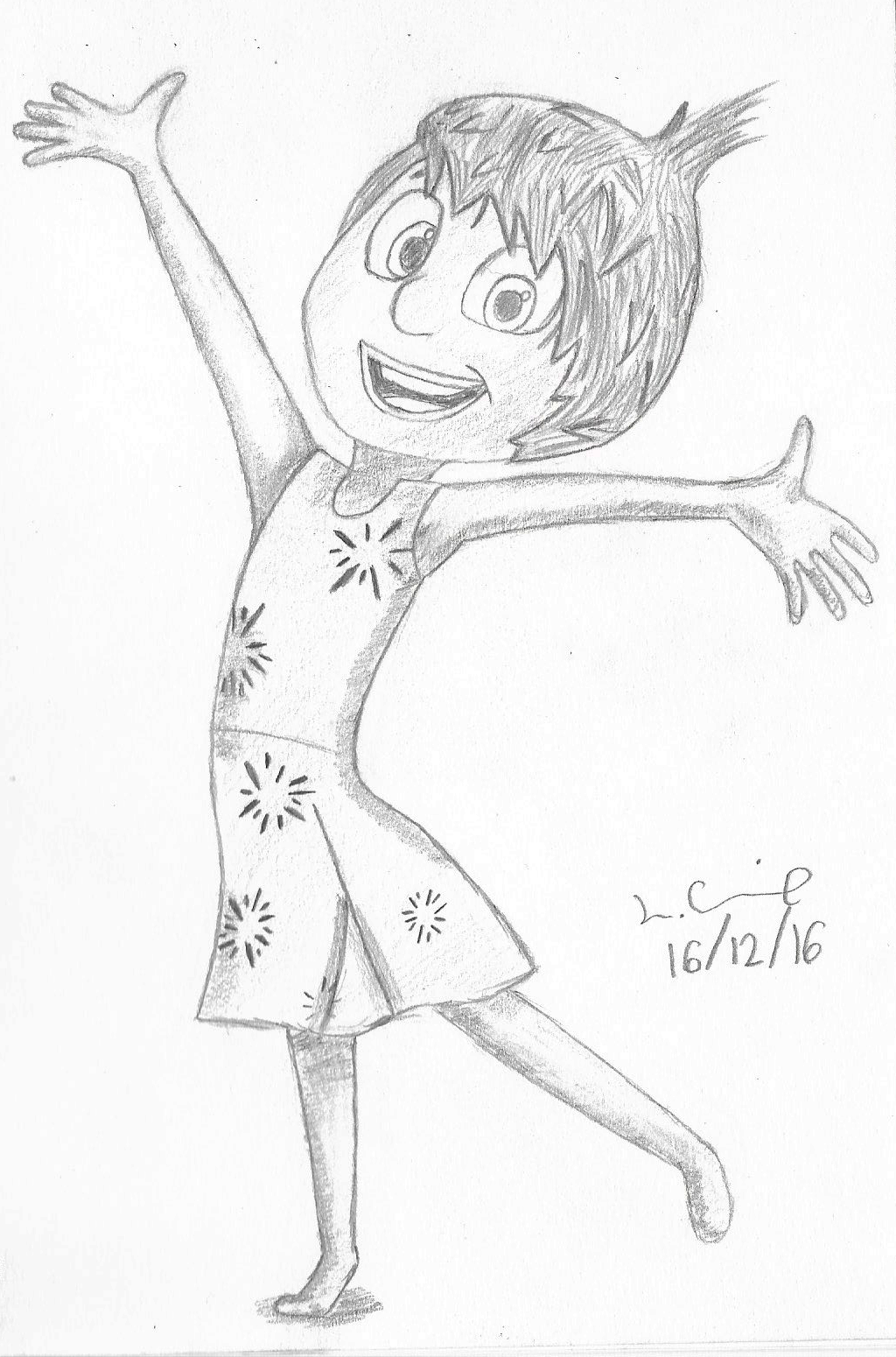 1024x1550 Inside Out Joy Sketch By Liamtheanimator