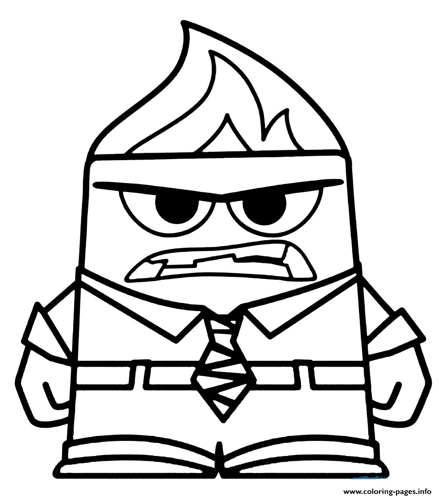 900x1020 Coloring Pages Inside Out Sadness Copy Anger Coloring Pages