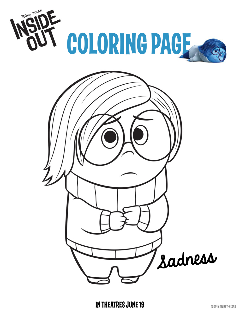 1000x1294 Joy Coloring Pages Inside Out
