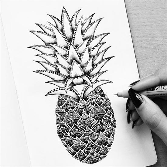 550x550 Super Duper Detailed Ink Drawings By Pavneet Sembhi