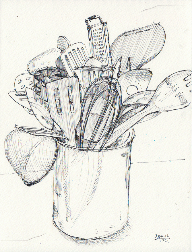 669x878 Drawings Of Kitchen Utensils