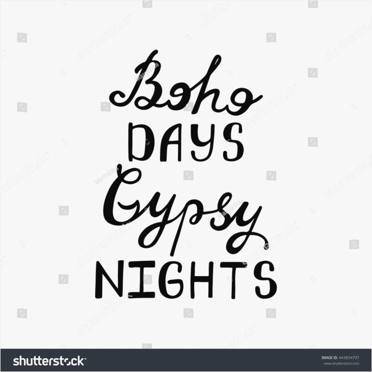730x730 Quotes About Drawing Luxury Boho Days Gipsy Nights Inspirational